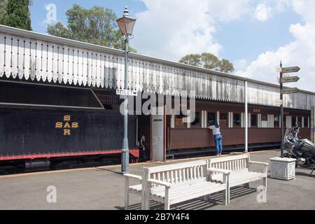 Class 16 steam locomotive at Heidelberg Heritage Museum, Voortrekker Street, Heidelberg, Gauteng Province, Republic of South Africa