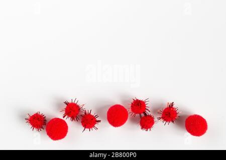 Covid-19 coronavirus. Abstract virus strain model of MERS-Cov with tablets. 2019-nCoV - Stock Photo