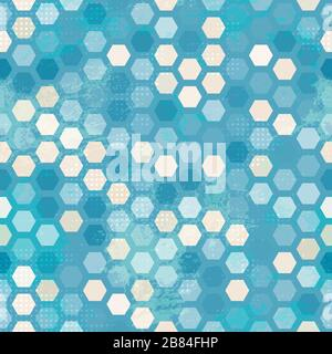 abstract grunge blue cells seamless - Stock Photo