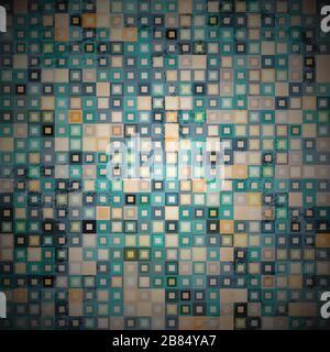 grunge tile seamless pattern - Stock Photo