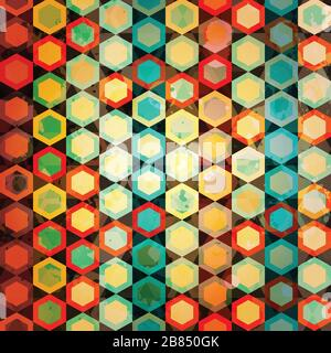 multicolor cells seamless - Stock Photo