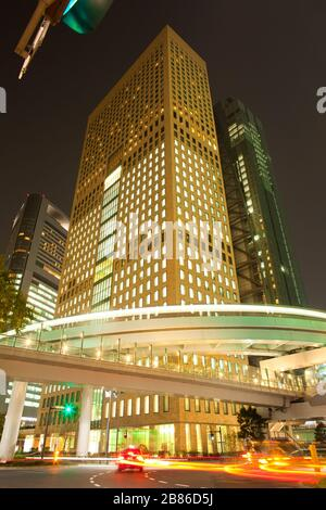 Skyline of skyscrapers at Shiodome Area in Shimbashi district, Tokyo, Kanto Region, Honshu, Japan