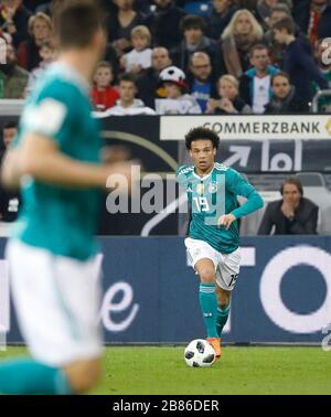 Leroy Sane of Germany controls the ball during the friendly match between Germany and Spain, Espritarena in Duesseldorf on March 23., 2018.  LŠnderspi - Stock Photo