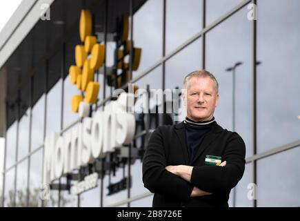 Morrisons CEO David Potts at the Morrisons St Ives Store in Cambridgeshire.