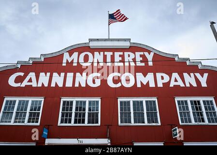 Former Cannery Company at the Cannery Row in Monterey. Nowadays a touristic place for entertainment. - Stock Photo