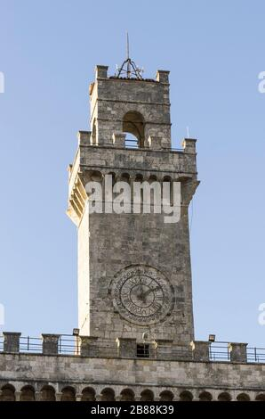 Tower of the Town Hall of Montepulciano in Tuscany
