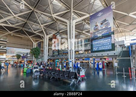 Mulhouse, France – August 31, 2019: Terminal of Mulhouse airport (EAP) in France. - Stock Photo