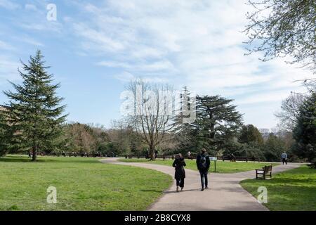 Streatham, London, UK. 21st March, 2020. Daily life in Streatham Common amid the Coronavirus Pandemic in South London, England. Credit: Sam Mellish / Alamy Live News - Stock Photo