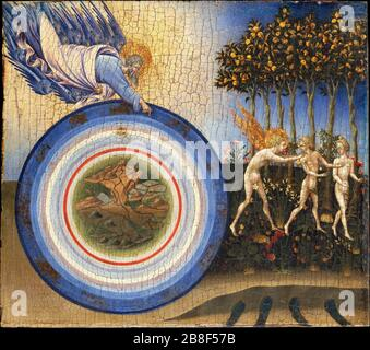 Giovanni di Paolo (Giovanni di Paolo di Grazia) (Italian, Udine 1487–1564 Rome) - The Creation of the World and the Expulsion from Paradise - Stock Photo