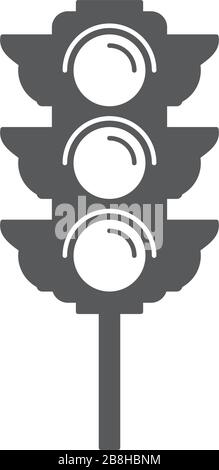 traffic light vector icon concept design isolated on white background - Stock Photo