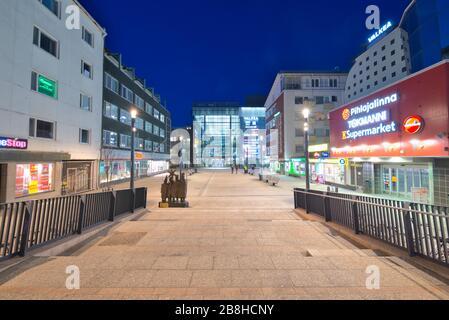 Valkea Shopping Center in Oulu, Finland - Stock Photo