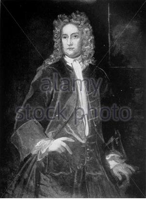 'Portrait of Sir William Berkeley, Governor of Virginia. Image ca. 1917 of a painting at Library of Virginia, after an original painting circa 1663.; Photo image published 1917; Page 146 of Mary Newton Stanard (1865-1929), Colonial Virginia, its People and Customs. Philadelphia: J.B. Lippincott & Co., 1917. From digital scan at https://archive.org/details/colonialvirginia00stan; Painter Hariott L.T. Montague after Sir Peter Lely[1]; ' - Stock Photo