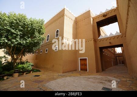 Riyadh - Riyadh / Saudi Arabia - March 07  2020: View of The Murabba Palace Qasr al Murabba is Historic Building - Stock Photo