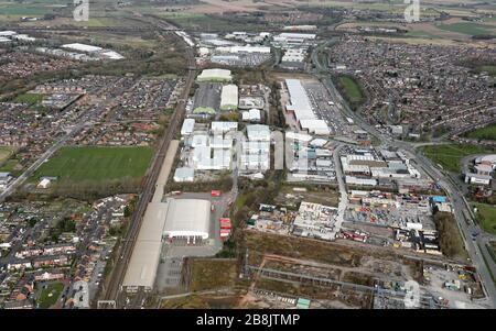 Aerial View Of Warrington Junction 9 Retail Park Alban Retail Park Stock Photo Alamy