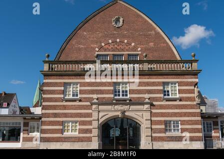 Fischauktionshalle or former fish market, today Schiffahrtsmuseum or Museum for Shipping Kiel, Schleswig-Holstein, North Germany, Central Europe - Stock Photo