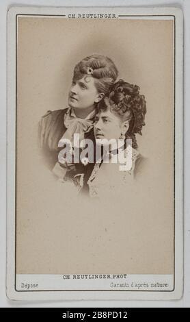 Portrait of Delphine Lissy or Lizy (actress) and Rose Marie Portrait de Delphine de Lissy ou Lizy, actrice et Rose Marie. 1860-1890. Carte de visite (recto). Tirage sur papier albuminé. Photographie de Charles Reutlinger (1816-1880). Paris, musée Carnavalet.