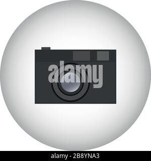 Camera icon symbol design. Vector template illustration. Classic Photographic Camera - black Stock Photo
