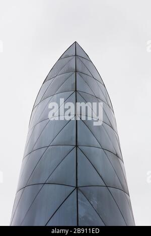 LIMA, PERU - DECEMBER 30, 2017: Detail of Larcomar shopping center in the Miraflores district of Lima, Peru. It was opened on 27 November 1998. - Stock Photo