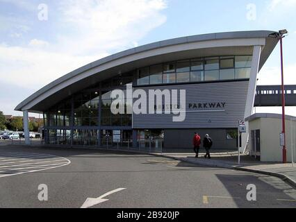 'Bristol Parkway Station.; 10 October 2004; Photo by Adrian Pingstone.; Adrian Pingstone; ' - Stock Photo
