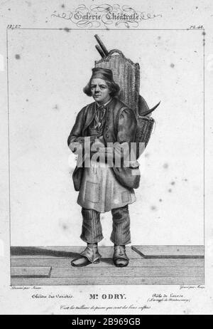THEATER GALLERY, 48 BOARD: THEATER VARIETY, MR ODRY, ROLE OF LAROSE (BLIND MONTMORENCY) Mécou d'après Saintin-François Jozan (1797-1867). 'Galerie Théâtrale, planche 48 : Théâtre des Variétés, Monsieur Odry, rôle de Larose (l'Aveugle de Montmorency)'. Paris, musée de la Vie romantique.
