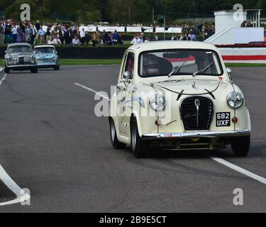Adam Morgan, Austin A35, St Mary's Trophy, production saloons, Goodwood Revival 2017, September 2017, automobiles, cars, circuit racing, Classic, comp - Stock Photo