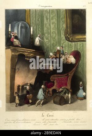 Honore Daumier - L'imagination number 7 Honoré Daumier (1808-1879). L'Imagination numéro 7 : le curé, gravure. Paris, musée Carnavalet. - Stock Photo