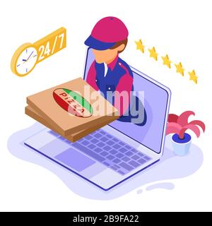 online food order package delivery service - Stock Photo