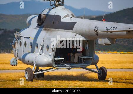 Aviation Croatian Mi-17 H-274 just before taking off - Stock Photo