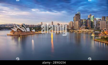 Sydney, Australia. Aerial cityscape image of Sydney, Australia during sunrise.