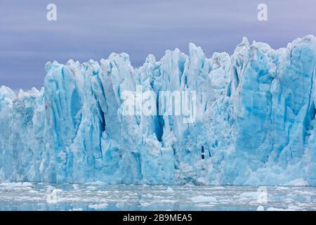 Monacobreen, glacier in Haakon VII Land which debouches into Liefdefjorden, Spitsbergen / Svalbard, Norway