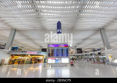 Hong Kong, China – September 20, 2019: Terminal 2 of Hong Kong airport (HKG) in China.