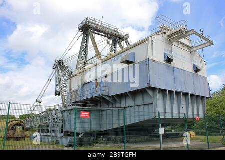 'Oddball', a Bucyrus Erie BE 1150 Walking Dragline Excavator, which was used in opencast/surface coal mining. - Stock Photo