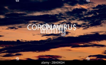 Concept for the costs to the American/global economy caused by the Coronavirus outbreak. - Stock Photo
