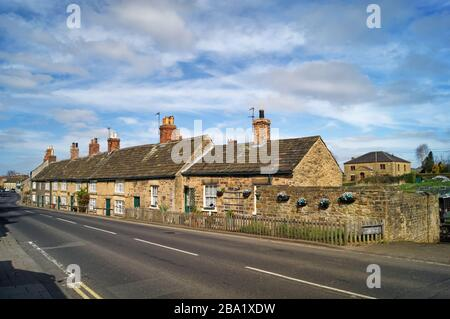 UK,South Yorkshire,Rotherham,Wentworth,Cottages next to B6090