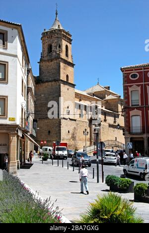 Holy Trinity church and convent (Iglesia de La Santisima Trinidad (16th - 18th century) viewed from the Plaza Andalucia, Ubeda, Spain. - Stock Photo