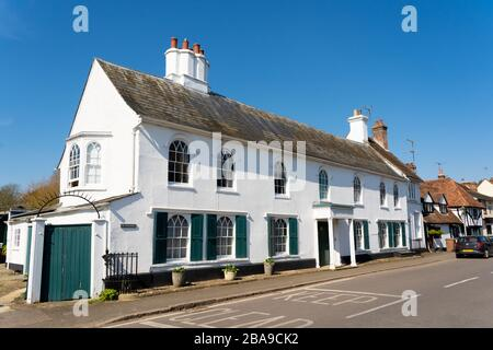 The White House, a Grade 2 Listed building in Much Hadham High St, Much Hadham, Hertfordshire. UK - Stock Photo