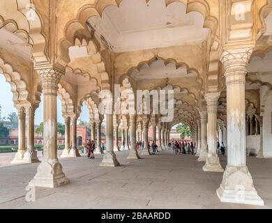 The Diwan-i-am (Hall of Public Audiences) in Agra Fort, Agra, Uttar Pradesh, India