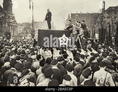 The German Communist Leader Ernst Thalmann Speaks During A Meeting In The Berlin Lustgarten 1 May 1931 - Stock Photo