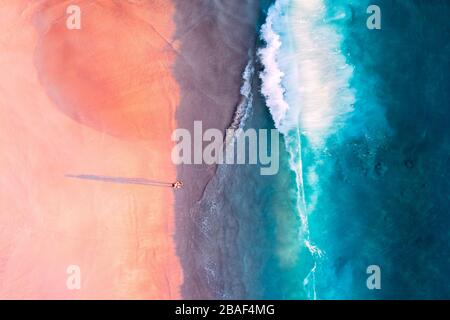 Seychelles drone top view, Mahe Island, Anse Intendance