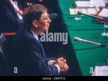 WASHINGTON, DC, USA - MARCH 3, 1998: Bill Gates, CEO Microsoft, testifies before Congress. - Stock Photo