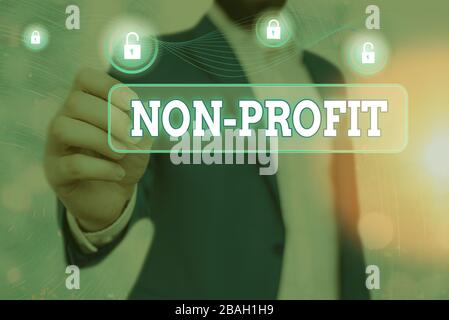 Handwriting text writing Non Profit. Conceptual photo type of organization that does not earn profits for its owners
