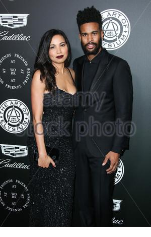 Santa Monica, CA  - **FILE PHOTOS** Jurnee Smollett Files for Divorce From Josiah Bell After Nearly 10 Years of Marriage.    Actress Jurnee Smollett-Bell and husband/musician Josiah Bell arrive at The Art Of Elysium's 11th Annual Heaven Gala held at the Barker Hangar on January 6, 2018 in Santa Monica, Los Angeles, California, United States.    Pictured: Jurnee Smollett-Bell, Josiah Bell    BACKGRID USA 28 MARCH 2020     BYLINE MUST READ: Image Press / BACKGRID    USA: +1 310 798 9111 / usasales@backgrid.com    UK: +44 208 344 2007 / uksales@backgrid.com    *UK Clients - Pictures Containing Ch - Stock Photo