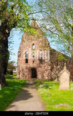 Beauly, Inverness-shire, Scotland, UK - June 22, 2012: The ruins of the church abbey of Beauly Priory, founded around 1230. - Stock Photo