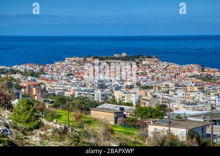 Panoramic view of Rethymno city, Crete, Greece - Stock Photo