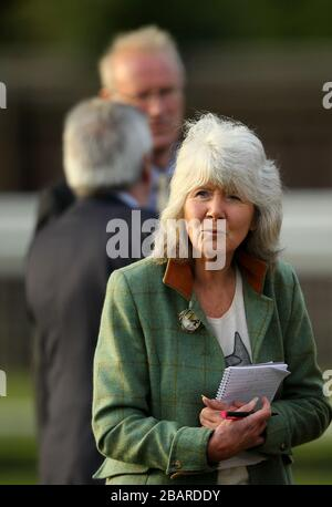 Author Jilly Cooper at Leicester Racecourse Stock Photo