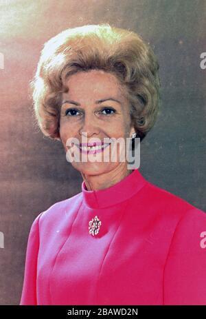 PATRICIA NIXON (1912-1993) wife of US President Richard Nixon, about 1970 - Stock Photo