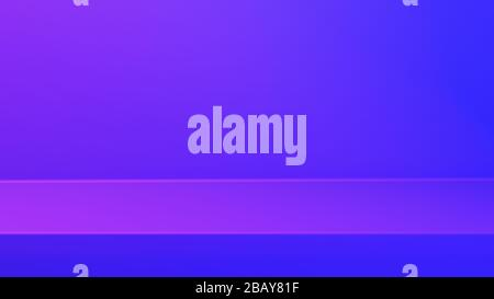 Empty modern Blue Pink vibrant light studio background for copy space display product of present content advertising banner product design mockup. 3D