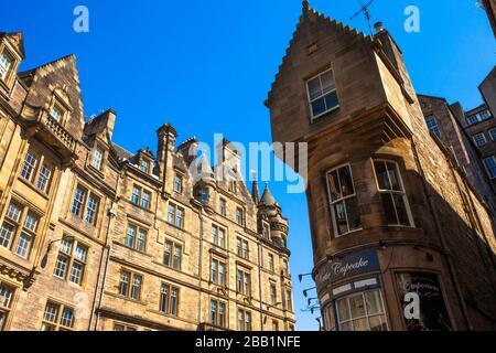 Victoria Street, Old Town, Edinburgh, Scotland, United Kingdom, Europe