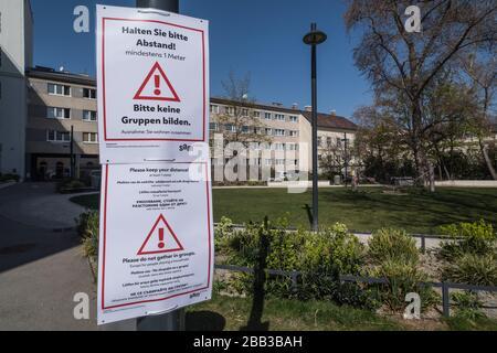 Wien, Maßnahmen gegen die Ausbreitung des Coronavirus - Vienna, action against the spread of Corona Virus
