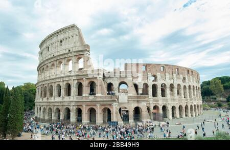 ROME, ITALY - OCTOBER 04, 2018: View of the Colosseum, Rome, Italy - Stock Photo